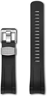 Crafter Blue Curved Ended Rubber Watch Band Stylish Watchband for Tudor Pelagos 25600/25610