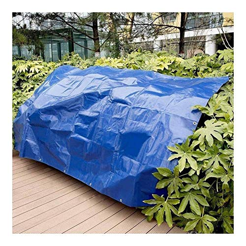 Jonist Tarpaulin Waterproof Heavy Duty Blue Tarp Cover UV Resistant Protecting Car Wood Boat Garden Outdoor Camping, 12 Size (Color : Blue, Size : 3X5m)