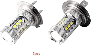 Beaums 1Pair 80W LED Ice Blue Super Bright H7 8000K 2828 LED Bulb Compatible for Low