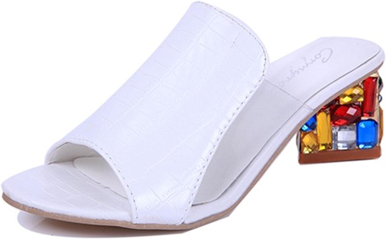 Women Sandals Ladies Summer Slippers shoes Women High Heels Sandals Fashion Rhinestone Summer shoes New ALF19
