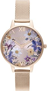 Olivia Burton Best In Show Quartz Movement Blush Sunray and Floral Dial Ladies Watch OB16EG141