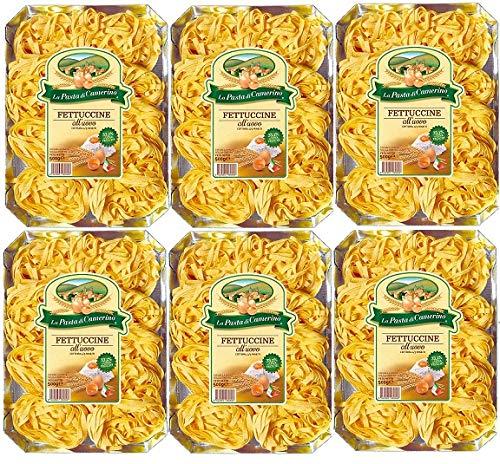 6 Confezioni di La Pasta di Camerino FETTUCCINE all'uovo 500 Gr.