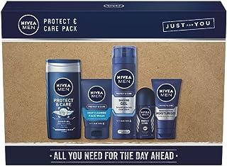 Nivea Men Protect & Care Geschenkpackung, Herren-Toilettenartikel-Geschenkset, Pflege- und Schutzformeln, Hautpflegeproduk...