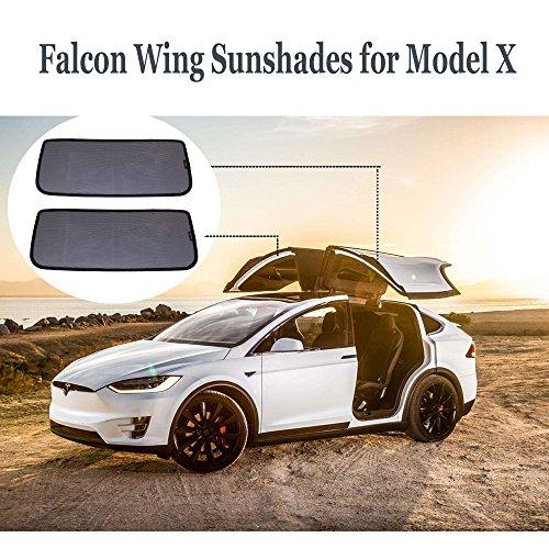 Teslaowner Falcon Schiebedach, Sonnenschirme, Dachfenster Blind Schattierung Netto Vorhang für Model X