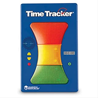Learning Resources Magnetic Visual Time Tracker & Clock, Classroom Accessories, Teacher Aids, 3-Color Lighted Display, Visual & Audio Alarms