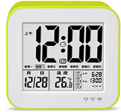 DUHUI Despertador Reloj Despertador electrónico silencioso Luminoso termómetro Creativo Carga