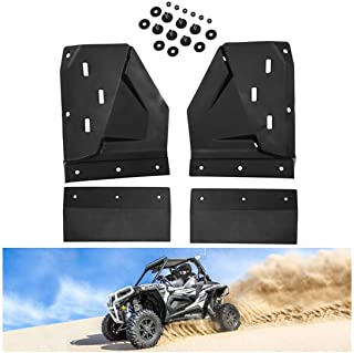 KIWI MASTER Front Mud Flaps Guards Compatible for 2014-2021 Polaris RZR XP/4 1000 S 900 Turbo Extended Mud Flap Guard Fend...