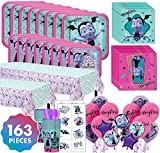 Party City Vampirina Mega Ultimate Party Kit for 16 Guests, 163 Pieces, Includes Tableware, Balloons, and Favor Cups