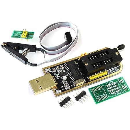 sop8 a dip8 socket sop8 a dip8 DollaTek programador ch341a adaptador de 1.8v clip sop8