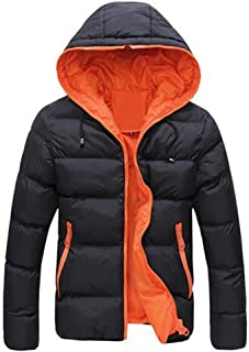 Lookatool Men's Slim Casual Warm Jacket Hooded Winter Thick Coat Parka Overcoat Hoodie