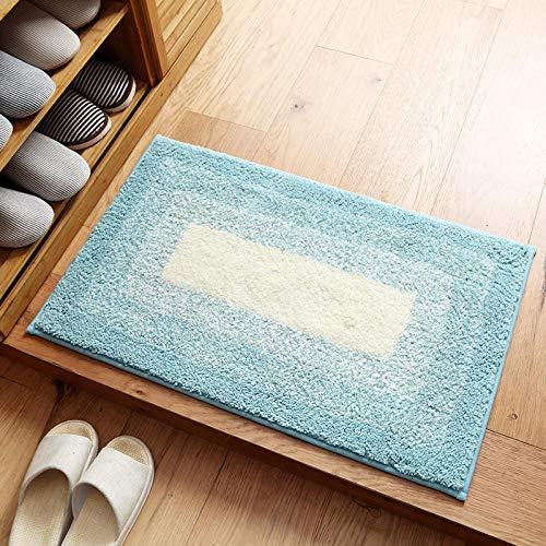 badmat badmatten antislip Waterabsorberende antislip deurmat voor badkamer en toilet-Mintgroen_80x120cm