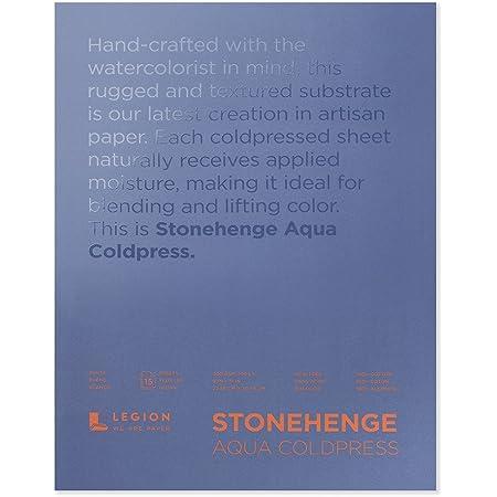 Legion Stonehenge Aqua Watercolor Block , 140 Cold Press, 9 X 12 inches, 15 Sheets, White