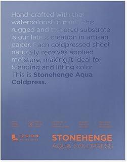 Legion Stonehenge Aqua Watercolor Block, 140 Cold Press, 9 X 12 inches, 15 Sheets, White