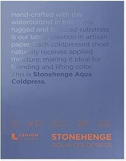 Legion Stonehenge Aqua Watercolor Block (L21-SQC140WH912), 140 Cold Press, 9 X 12 inches, 15 Sheets, White