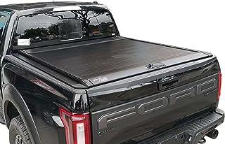 "ISTUNT Aluminum Retractable Roll-up Hard Tonneau Cover for 2005-2020 F-150 F150 5.5' 5'6"" Waterproof Short Truck Bed"