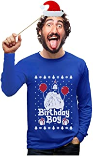 Jesus Birthday Boy Ugly Christmas Sweater Xmas Holiday Long Sleeve T-Shirt