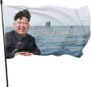 Voglawear Live Laugh Love Kim Jong Un Flag for Home Garden and Outdoor Yard Decoration - 3 X 5 Ft, One Size