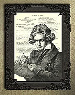 Beethoven wall art composer gifts dictionary art print classical music poster