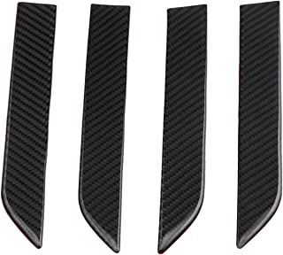 Domary Door Handle Cover 3D Real Carbon Fiber Protector Sticker Fitment for Tesla model x 2016-2018