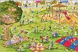 Poster 60 x 40 cm: Lachen und Lernen Wimmelbild: Auf dem