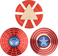 MAYBO SPORTS 3PACK Wiitin Superhero 2-Sided Fidget Spinner Toy Made by Metal with High Speed, Smooth, Stable and Quite Bea...