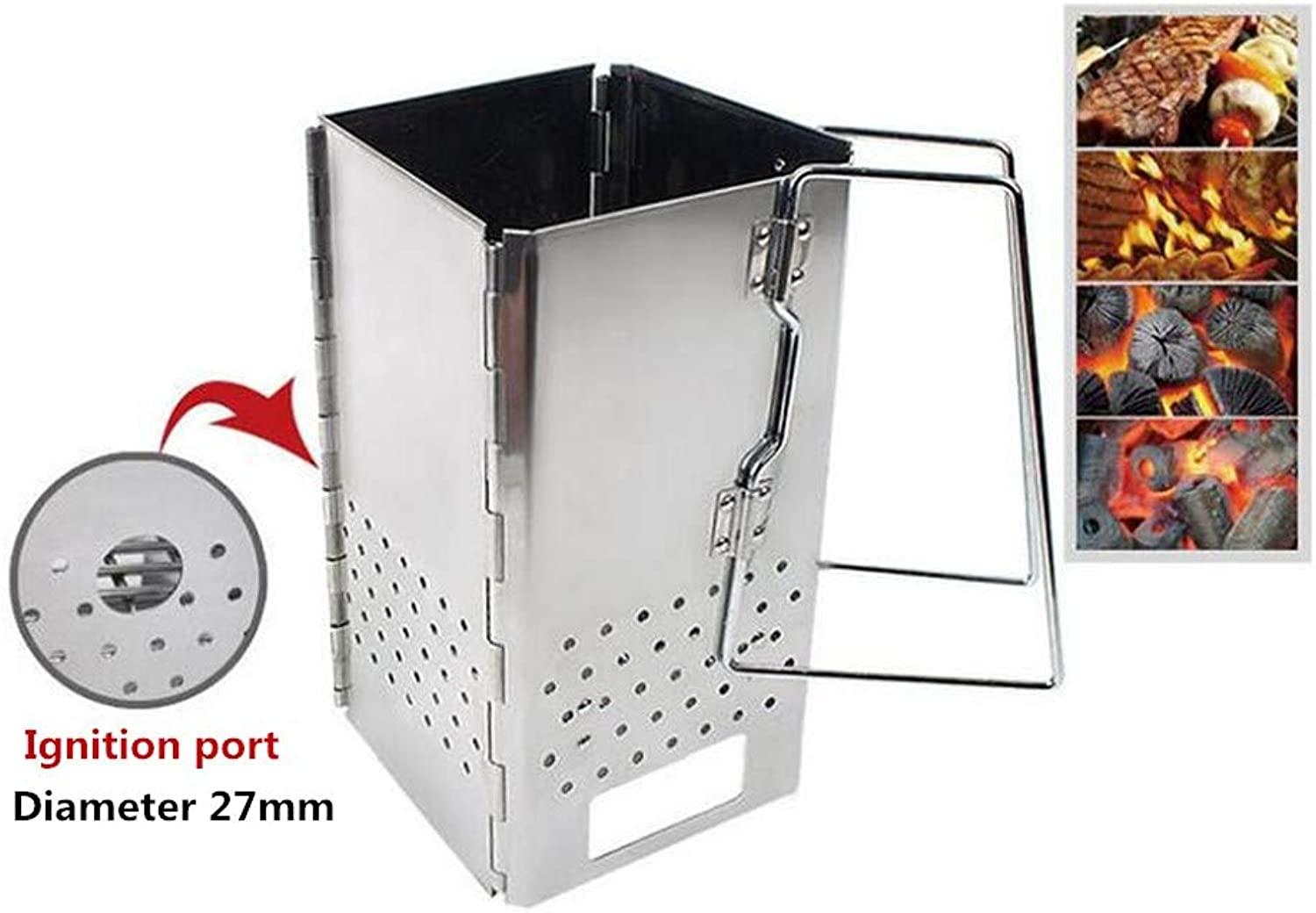 Meiyiu Outdoor Wood Stove Folding Grill Stainless Steel Portable Camping Stove