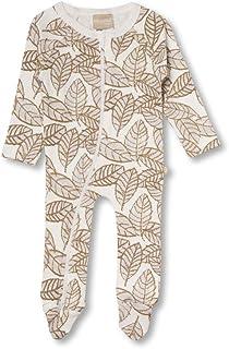 Babyushka Organic Stencil Leaf Zip Romper, 000