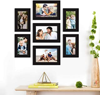 Art Street Synthetic Wood Best Wall Photo Picture Frame for Home Decor with Hanging Accessories (Size-4x6, 5x7 inches, Bla...