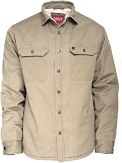 Sherpa Lined Twill Shirt Jackets for Men 100% Cotton