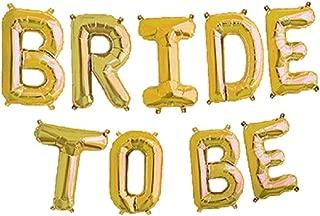 BRIDE TO BE Foil Letter Balloons 3D Banner Engagement Party Photo Prop Banner Bachelorette Parties Decorations (Gold) (GOLD)
