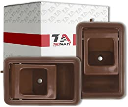 T1A Pair of Interior Door Handle Replacements for 1989-1992 Toyota Corolla, Fits Right and Left Sides, Also Fits Toyota Tacoma, 4Runner, Geo Prizm, Chevy Metro, Brown, T1A 69206-04010-B 69205-04010-B
