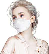 KN95 Face Mask 50Pcs for Small Face Women, 4-Layer Non-Stick Lipstick Design Safety Masks, Breathable Protection Masks Against PM2.5 Dust Bulk, White
