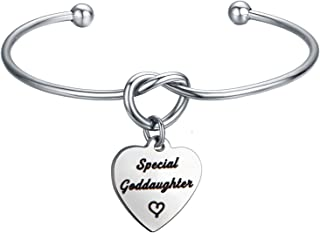 CHOORO Special Godmother/Goddaughter Cuff Bracelet Baptism Gift for Goddaughter for Godmother