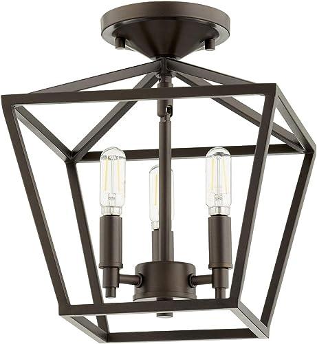 lowest Quorum International sale Gabriel 3-LT Ceiling Mount online sale - Oiled Bronze - 304-10-86 outlet sale