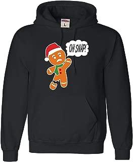 Adult Oh Snap! Funny Gingerbread Man Christmas Sweatshirt Hoodie