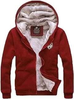 Mens Casual Sports Drawstring Hooded Running and Zipper Closure Hoodies Coats Tops Pants Set