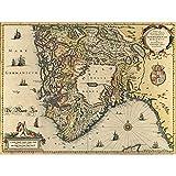 Landkarte Janssonius 1644 Südnorwegen Stavanger Bergen