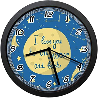 Shabby Chic 12 Inch Round,Perfect Schools Your Childrens Room hadaaya gift /& home decor Kids Room Decorative Wall Clock