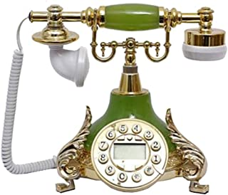Classic Old-Fashioned Telephone, Resin Metal Landline, Retro Style Fixed Telephone Home Decoration Ornaments Retro Landline