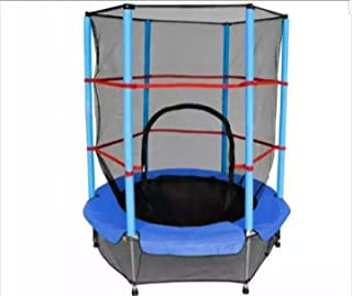 Trampoline with safety net 55 inch , blue outdoor play garden toy gift boy girl unisex