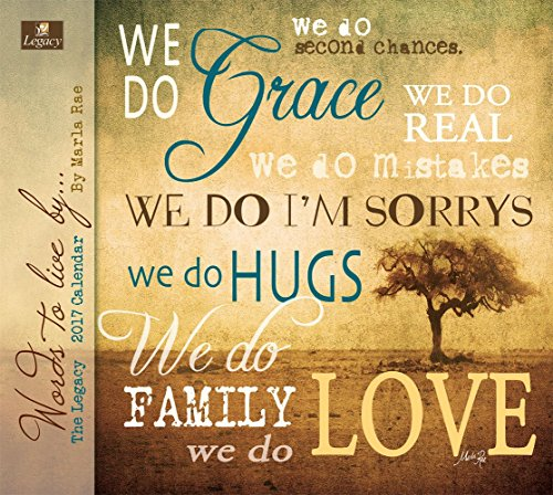 Legacy Publishing Group 2017 Wall Calendar, Words to Live by