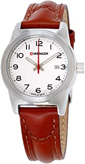 Wenger Field Color White Dial Leather Strap Men's Watch 010411142CB