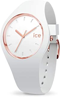 Ice-Watch - ICE glam White Rose-Gold - Montre blanche pour femme avec bracelet en silicone