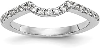 14kt White Gold Lab Grown Diamond SI1/SI2, G H I, Wedding Band 0.285 Carat, Size 7