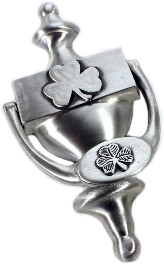 Irish Door Knocker Shamrock in National uniform free shipping Industry No. 1 Made Ireland Pewter