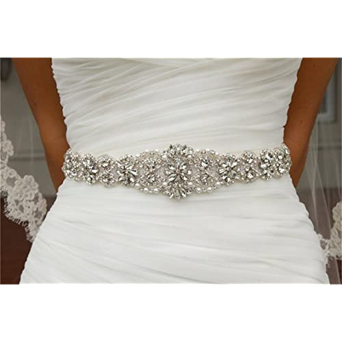 a1d9ab3090a7 Wedding Belts with Crystals  Amazon.co.uk