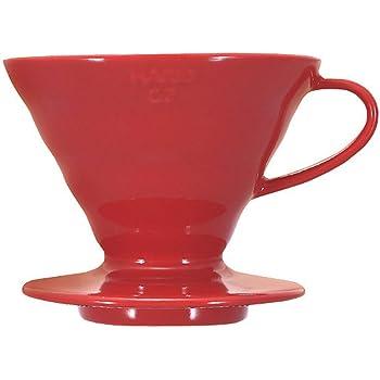 Hario Coffee Dripper V60 Size 02 Red Ceramic (japan import): Amazon.es: Hogar