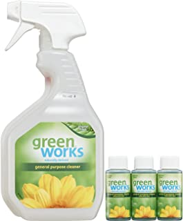 Green Works All-Purpose Cleaner Concentrate Value Pack, Cleaning Spray - Spray Bottle + Three 1 Ounce Concentrates