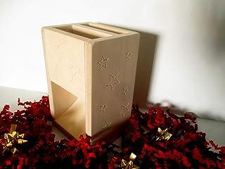 sKupy XMAS, cassa amplificatore altoparlante naturale in legno per smartphone