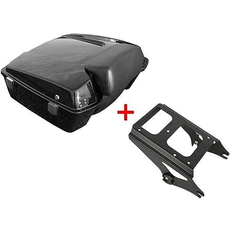 SLMOTO Chopped 10.7 Chopped Tour Pak Pack Trunk Backrest Pad /& Luggage Rack For Harley Tour Pak Touring 2009-2013